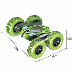 360-degree rotating children's stunt deformation remote control car off-road climbing with LED lights on Sale