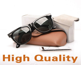 sun glasses black Australia - Brand New Plank Sun glasses Black glass Lens Sunglasses Metal hinge Sunglasses Brand Designer Sun glasses ray Mens Womens glasses with cases