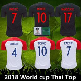 Venta al por mayor de Top Thai 2018 World Cup VIDA REBIC RAKITIC Hrvatska LOVREN Croadia Soccer Jersey Luka modric Voetbal croazia Camisetas de fútbol MANDZUKIC