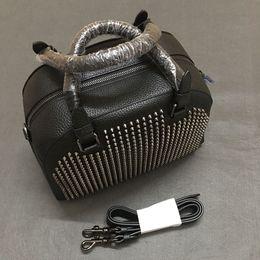 Zipper Spikes Australia - Fashion Bags Women Shoulder Bag Genuine Leather Rivets Spikes Bow Crossbody Bags Tote Bag Luxury Designer Handbags