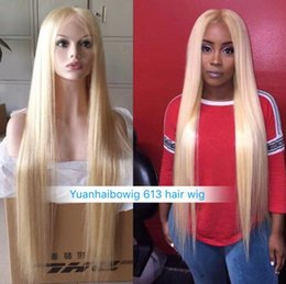 $enCountryForm.capitalKeyWord UK - Celebrity Wigs Lace Front Wig #613 Blonde Silky Straight 10A Grade European Virgin Human Hair Full Lace Wigs for Woman Fast Free Shipping