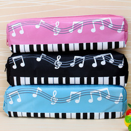Wholesale Piano Keyboards Australia - QONE 150 PCS Piano Keyboard Pen Bag Multi-function Student Stationery Box Cartoon Pencil Case Random mix color