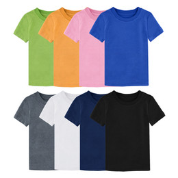 $enCountryForm.capitalKeyWord Australia - Baby Boy Girl Solid Color T-shirts Kids Heavy Cotton Tshirt Toddler Thicker Pure Tops Plain Child Shirt Summer Short Sleeve Tee