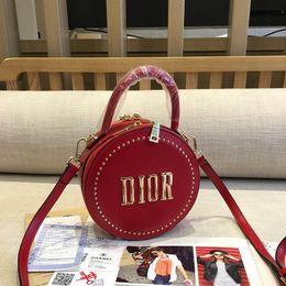 $enCountryForm.capitalKeyWord Australia - New Womens Luxury Small Round Shoulder Bags Triple Black White Red Leather Handbags Lady Fashion Handles Chain Mini Dress Totes