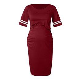19e30008ea Nursing Dress Women Bodycon Short Sleeve Elegant Casual Long Breastfeeding  Dress For Feeding Maternity Pregnancy Clothes 19feb27