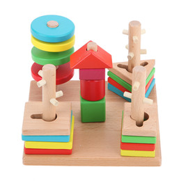 Match Blocks Australia - Wooden Building Block Baby Gift Geometry Cognitive Matching Toy ,Fun Block Board Game Toy ,Wooden Educational Toy For Children