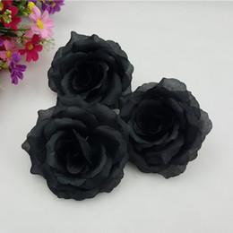 Decorative Black Rose Australia - New 100pcs lot 20colors 10cm Black Artificial Rose Silk Flower Heads Decorative Flowers For Wedding Party Banquet Decoration Y19061103