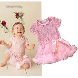Pink Infant Tutu Australia - Summer Baby Rompers Lace princess Pink Newborn Romper Girls One Piece Clothing newborn baby girl clothes Infant Jumpsuit Tutu Dress A2578