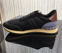 Vente en gros 2018 Low Sell Top Rivets VALEN Espadrilles Mesh Chaussure Chaussures de sport en cuir véritable chaussures de sport plates en cuir véritable YA