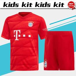 17 boy shorts online shopping - Bayern Kids Kit soccer Jersey home red MULLER BOATENG new season Child football uniforms Customized shirt with shorts