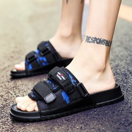 $enCountryForm.capitalKeyWord NZ - Summer slippers men 2019 new beach shoes men's sandals Korean version of fashion outside wearing a word cool drag thick bottom