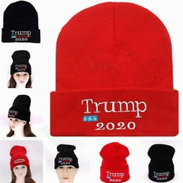$enCountryForm.capitalKeyWord Australia - HOT 2020 trump Hat Election Knitting Woolen Yarn Hat Trump Beanies Men and Women Winter Skull Caps T7C081