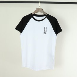 Discount horseshoe crosses - Fashion mens designer t shirts Chromes hearts new trend brand t shirt Horseshoe cross print women tshirt Cotton round ne
