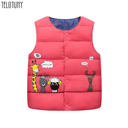 SleeveleSS veStS for babieS online shopping - Telotuny Autumn Winter Warm Kids Vests For Boys Cartoon Animal Outerwear O Neck Jackets Gilet Baby Boy Warm Coats Waistcoat