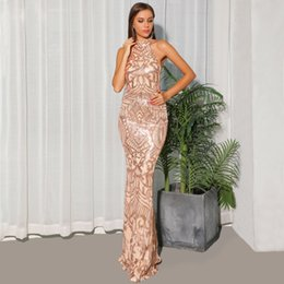 $enCountryForm.capitalKeyWord Australia - Hot selling sleeveless Party dresses sexy high neck sequins tight mermaid evening dress prom dresses sexy evening party