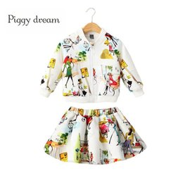 $enCountryForm.capitalKeyWord Australia - hildren clothing set Autumn Winter Girls Children Clothing Set Kids warm Long sleeve printed jacket fashion skirt Brand Sport Suits Kids ...