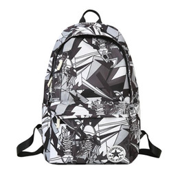 Graffiti Flowers UK - Brand canvas material bag women and men students couple Graffiti backpack male and female students couple bag computer bag