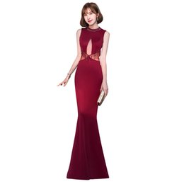 transparent women gown Australia - Evening Dress Transparent Sleeveless Crystal Women Party Dresses Tassel Robe De Soiree O-neck Formal Evening Gowns 2019 F087
