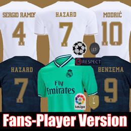 Real madRid fans online shopping - FANS PLAYER VESION HAZARD JOVIC MENDY RODRYGO REAL MADRID soccer jerseys camisetas football shirt men and kids kit sets tops