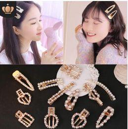 Hair Clip Korean Style Australia - Fashion Pearl Hair Clip for Women Elegant Korean Design Snap Barrette Stick Hairpin Hair Styling Accessories