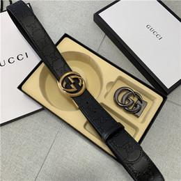 $enCountryForm.capitalKeyWord Australia - Top Quality Luxury Leather Belts Strap Jeans Desinger Belt Letter Buckle Waist Straps Mens Casual Belt Womens Shorts Belts with Box