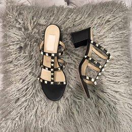 Neue Pantoffel beschuht die Sandelholze der Männer Modedesignerfrauen beschuht weiße schwarze Turnschuhe des neuen heißen Verkaufs echtes Leder-Fersenhoch im Angebot