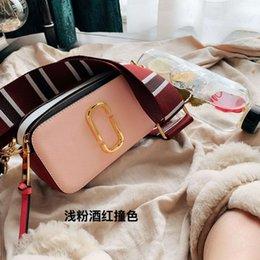 Camera Shoulder Strap Australia - 2019 Flap Mini Camera Bag Crossbody Shoulder Bag For Lady Women Box Wide Shoulder Straps Fashion MJ Paillette ZDL 1789