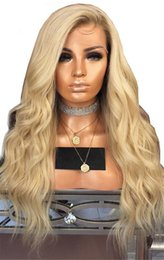 Discount human hair wigs for white women - #613 Blonde Lace Front Human Hair Wigs For White Women Body Wave Brazilian Virgin Hair Full Lace Wigs With Baby Hair Nat