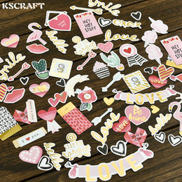 love stickers Australia - paper die 70pcs My Sweet Love Foil Gold Paper Die Cut Stickers for DIY Scrapbooking photo album Decoration Card Making Crafts