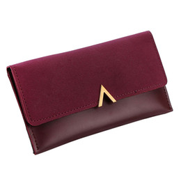 Chinese  Women Wallets Brand V Lady Handbags Moneybags Zipper Coin Purse Woman Envelope Wallet Money Cards Id Holder Bags Purses Pocket manufacturers