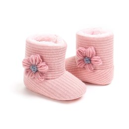 Yarn shoes online shopping - Infant Toddler Baby Girls Boots Boys Kids Winter Autumn Warm Thick Snow Boots Plush Yarn Fur Shoes Red Pink Gray