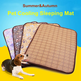 $enCountryForm.capitalKeyWord Australia - Pet Dog Cat Summer and Autumn Sleeping Cool Mat Pad Double Sided Rattan Dog Sleeping Cooling Floor Mats Cold Cushion 4 Sizes