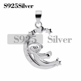 $enCountryForm.capitalKeyWord NZ - Monkey Pendant Nice Gift 925 Sterling Silver Pearl Findings without Stone DIY Semi Mountings 5 Pieces