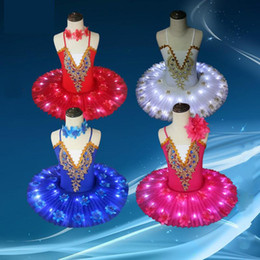 led tutus Australia - New Professional Ballet Tutu Led Swan Lake Adult Ballet Dance Clothes Tutu Skirt Women Ballerina Dress For Party Dance Costume