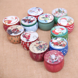 wholesale christmas gift tins Canada - Iron Christmas Candy Box Christmas Gift Box Santa Claus Snowman Cartoon Gift Box Sweet Boxes Tin Candy Jar Christmas Decoration DBC VT0791