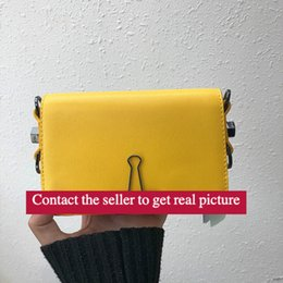 Wholesale MINI BAG Sculpture New turn off MINI bag Yellow strap Clip quot for display only quot Shoulder Bags Black and white stripes Trend package