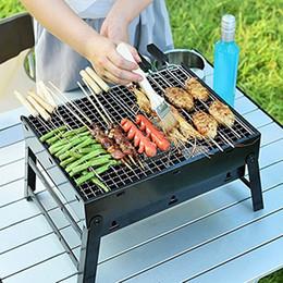 $enCountryForm.capitalKeyWord Australia - Portable BBQ Grill Folding BBQ Grill net shelf Mini Pocket BBQ Grill bracket outdoor camping garden Barbecue picnic Accessories