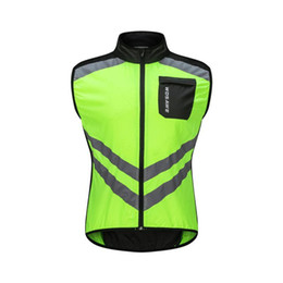 orange cycling vest UK - WOSAWE Reflective Men's Cycling Vest Waterproof High Visibility Windbreaker Bicycle Sports Clothing Reflective Rain Resistence