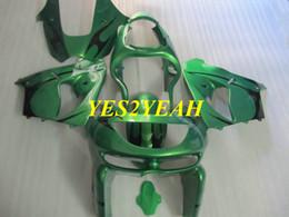 $enCountryForm.capitalKeyWord Australia - Motorcycle Fairing body kit for KAWASAKI Ninja ZX-9R ZX 9R 98 99 ZX 9R 1998 1999 ABS Green black Fairings bodywork+gifts KC21