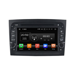 "Car Bluetooth Stereo Transmitter Australia - Android 8.0 Octa Core 1 din 7"" Car DVD Radio GPS for Fiat DOBLO 2016 2017 2018 Car Stereo 4GB RAM Bluetooth WIFI USB 64GB ROM"