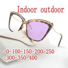 $enCountryForm.capitalKeyWord Australia - Myopia Sunglasses Photochromic Finished leopard Women Myopia Eyeglasses Frame with color lens Sun glasses Eyewear UV FML