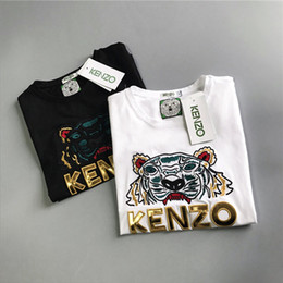 Women Tshirt Designs Australia - 19ss Summer Design luxurious Kenz Tshirt Tee Short Sleeve Breathable Men Women Fashion Tiger Head Outdoor Streetwear T-shirts