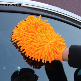 $enCountryForm.capitalKeyWord Australia - QIAOGUANJIA New Auto Accessories Thickened Chenille Brush Cleaning Gloves Microfiber Towel Car Care Detailing Gloves Car Clean