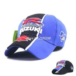 Motorcycle Ball Caps Australia - New arrived 4 seasons Embroidery Suzuki baseball cap adjustable Motorcycle Hats truck hats