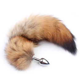 $enCountryForm.capitalKeyWord Australia - Fanala Drop Shipping 17'' Real Wolf Tail Butt Plug Anal Toys Special Sm Fun Toys Adult Role-playing Game For Couple Gay SH190730