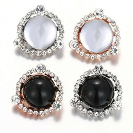 Chains For Mirrors Australia - 2019 newest Snap Jewelry Crystal round mirror Metal 18MM Snap Buttons Fit DIY OEM Bracelets Bangles For Women