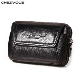$enCountryForm.capitalKeyWord NZ - CHEZVOUS Belt Clip Holster Leather Mobile Phone Case Pouch Cover for iphone X 5 6 7 8 Case Belt Pouch Bags for iphone 6 7 8 plus
