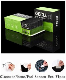 Wholesale 100PCS Portable healthy Glasses Cleaning Wet Wipes10 cm Cell Phone Screen Cleaning cloth disposable Glasses Lenses Wet Wipes