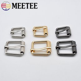 Band Clothes For Australia - Meetee 20pcs ID15 20MM Pin Belt Buckles 3colors Alloy for Bags Bands Luggage Clothing Adjust Handmade Hardware Accessories AP633
