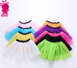 $enCountryForm.capitalKeyWord Australia - Girls lace tulle tutu skirt fashion kids lace tulle dance skirt girls candy color lace princess skirt children pageant skirts F9309